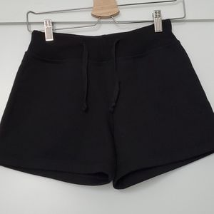 Black Sweater Shorts